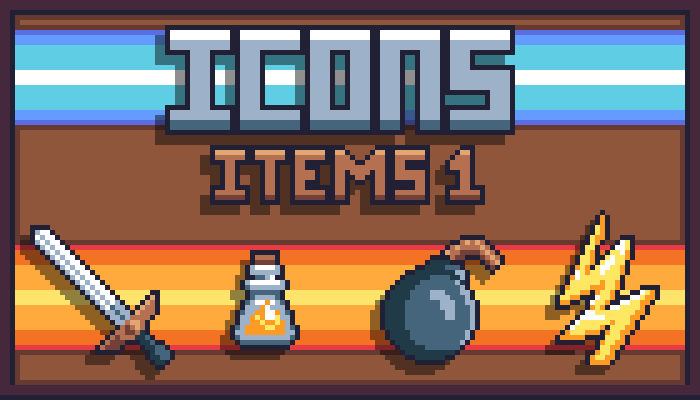 Icons: Items.