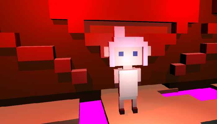 Young Voxel Female character