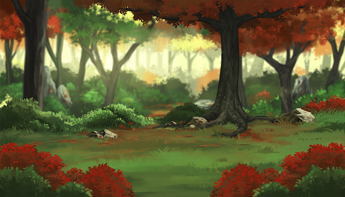 Red Autumn Forest RPG Background