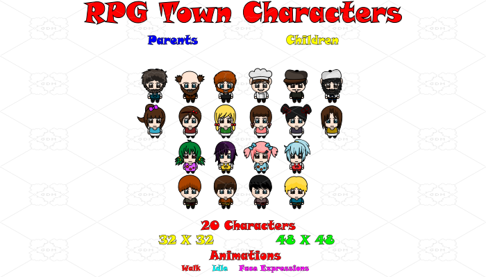 RPG Town Characters