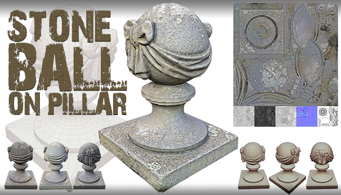 Stone Ball on Pillar
