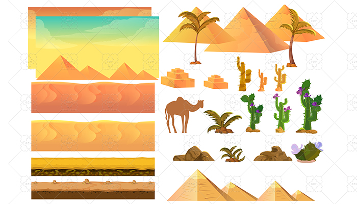Desert Landscape Elements