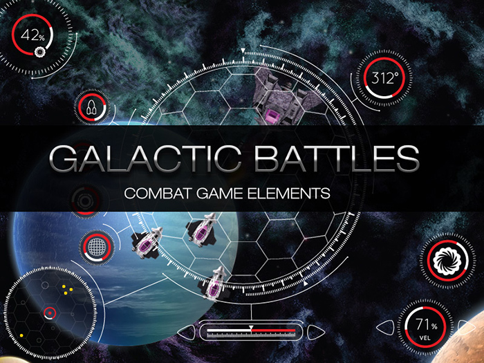 Galactic Assets Game graphics
