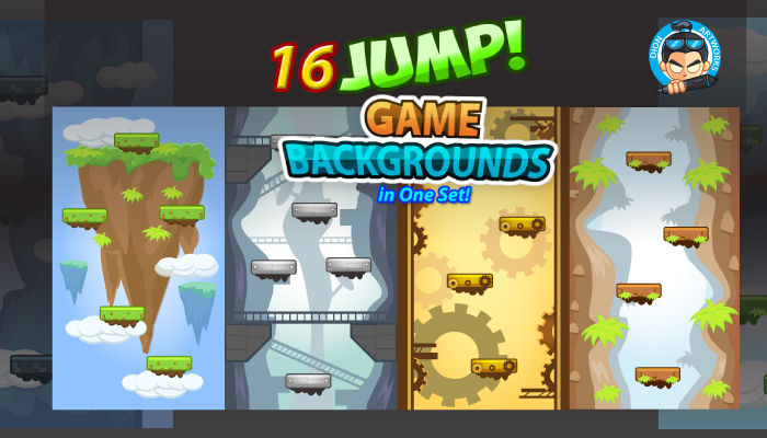 16 Jump/ Vertical Game Backgrounds Pack