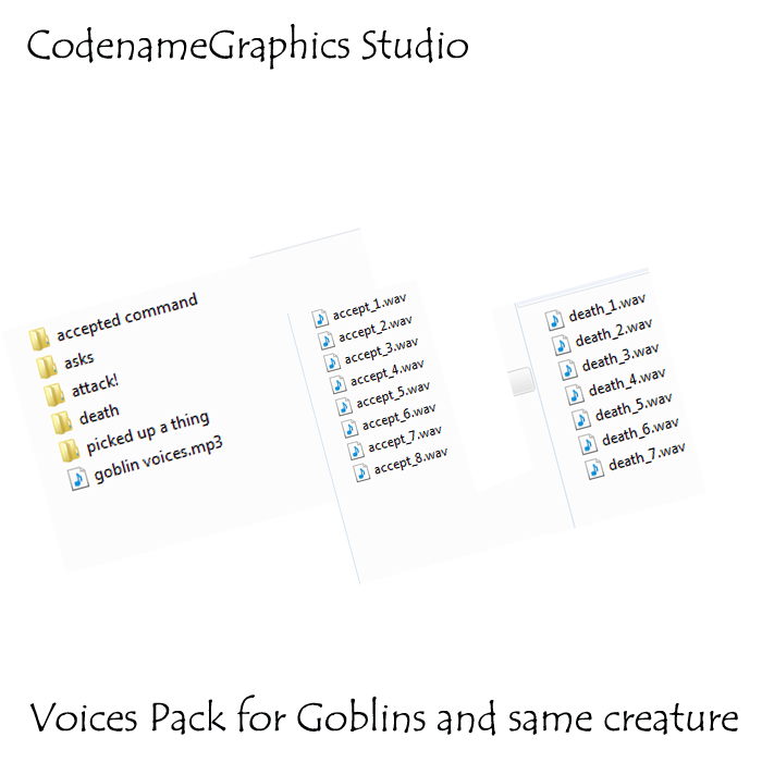 Voices pack for a Goblins and same creatures
