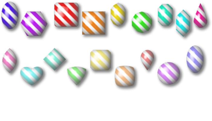 Candy Cane Gems