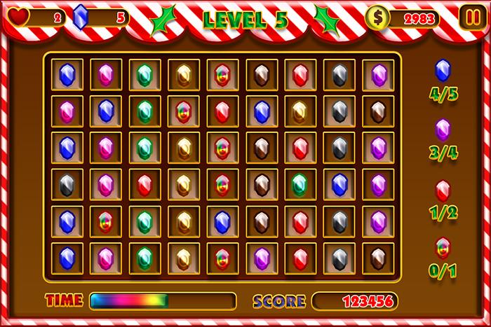 Candy Match 3 Gui