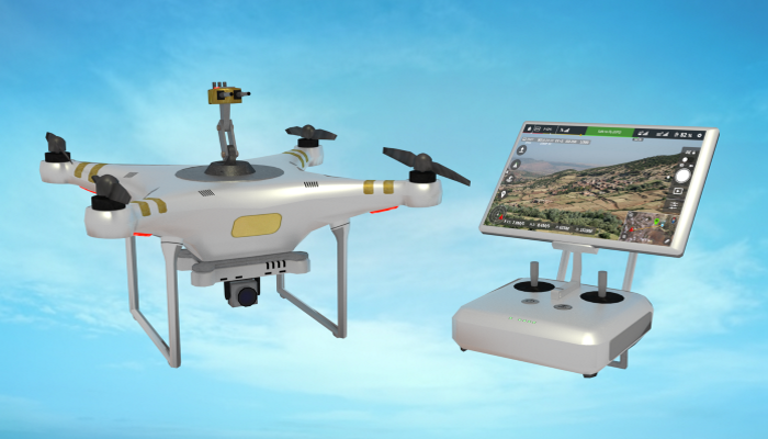 Drone with Turret and Controller