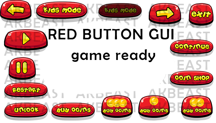 red shine buttons cute