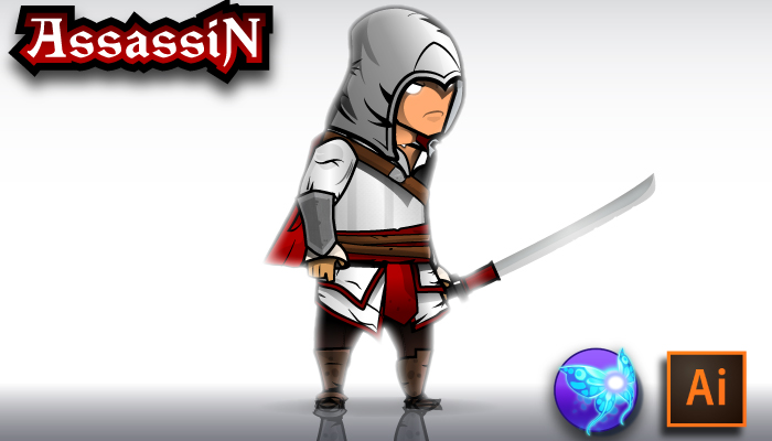 The Light Assassin Character Sprites
