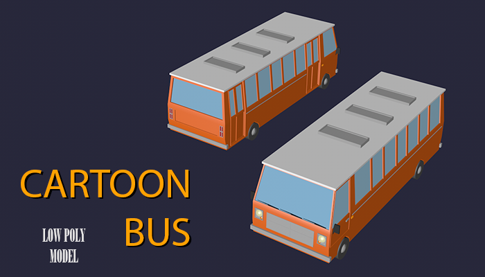 Low Poly Cartoon Bus