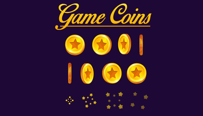 Gold coins Rotating Sprite Sheet and Gold Coins Set