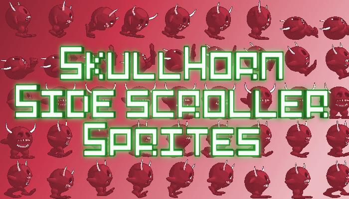 Skullhorn Side Scroller Sprites