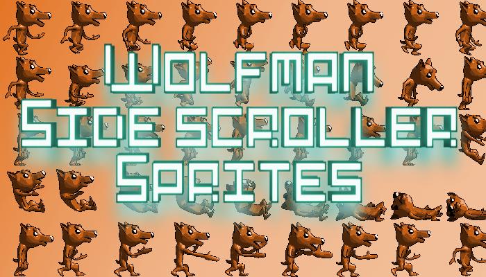 Wolfman Side scroller Sprites