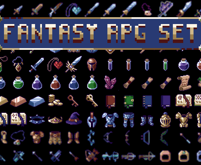 Fantasy RPG Item Set
