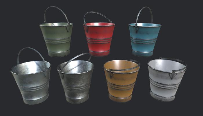 Steel Buckets PBR
