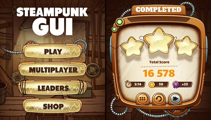 Steampunk GUI Set