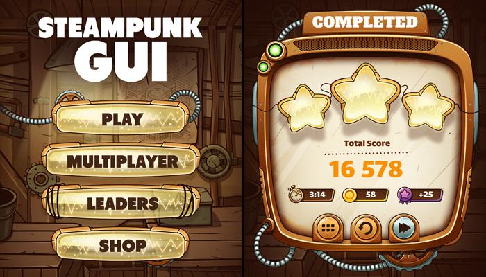 Steampunk GUI Set