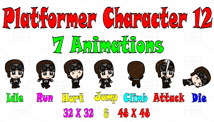 Platformer Character 12