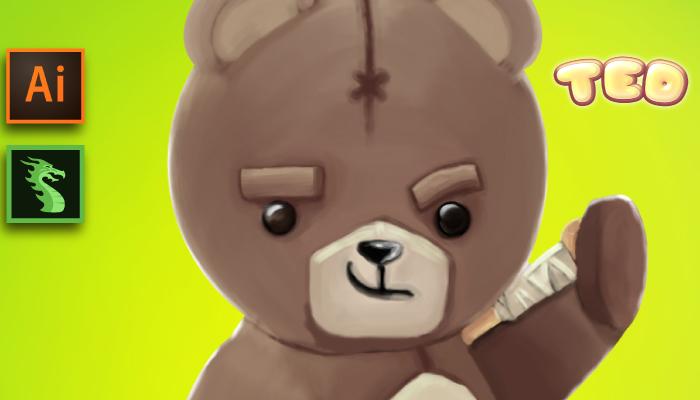 Teddy Bear Character Sprites