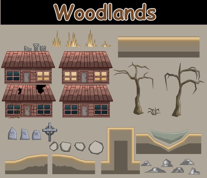 2D woodlands