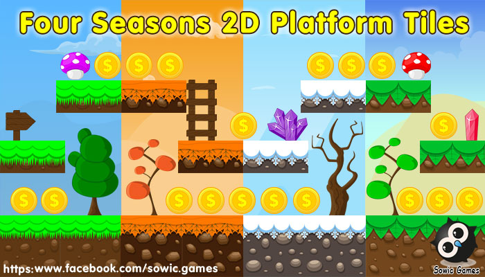 Four Seasons 2D Platform Tiles