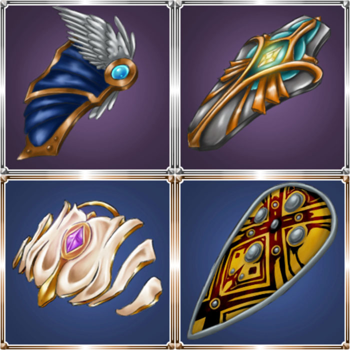 Fantasy Hand Painted Shield Icon Pack