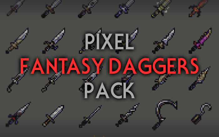 Fantasy Daggers – RPG Inventory Icons