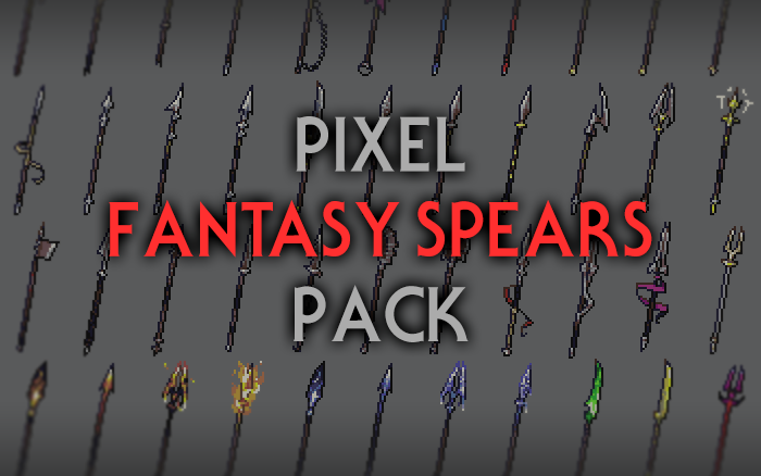 Fantasy Spears – RPG Inventory Icons