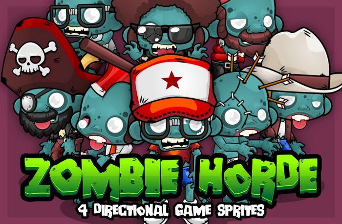 Zombie Horde – Game Sprites