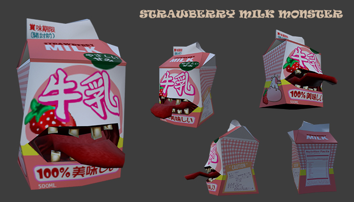 Strawberry Milk Monster