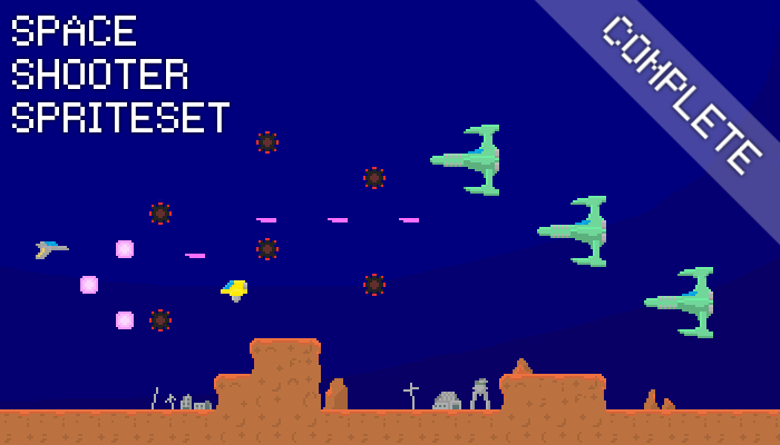 Space Shooter Spriteset