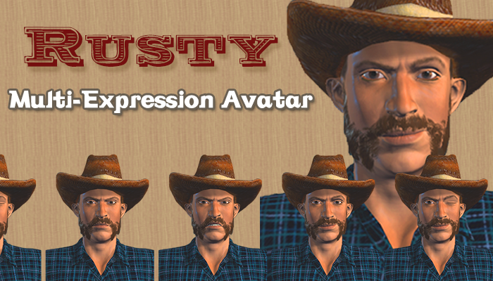 Rusty – Multi-Expression Avatar