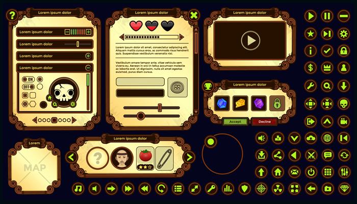 Game User Interface – Vector