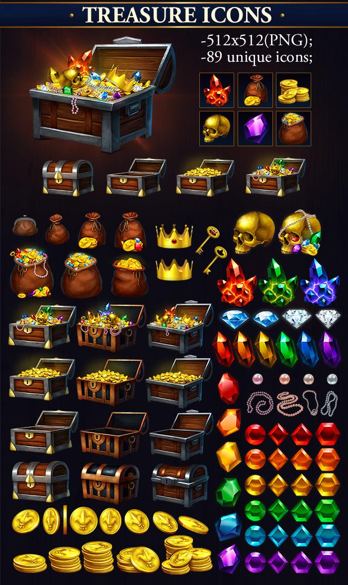 Treasure Icons Megapack
