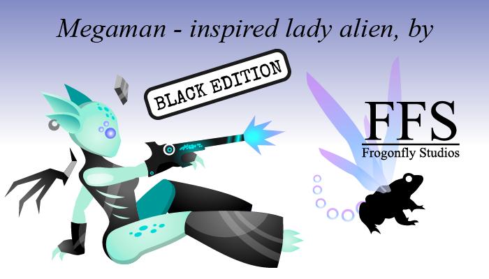 Megaman-inspired Lady Alien: BLACK edition