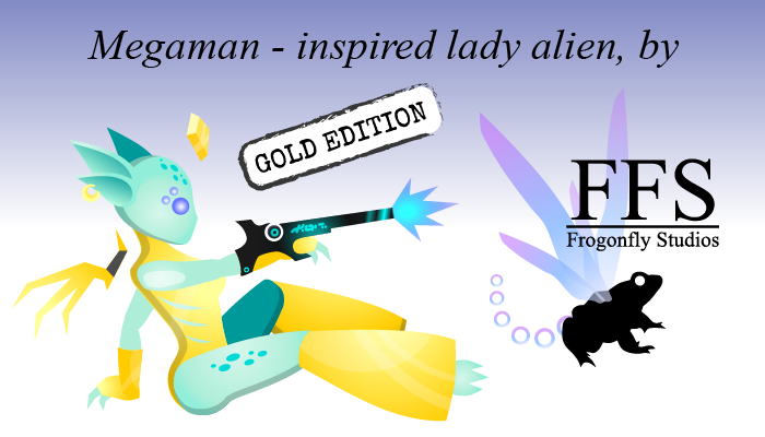 Megaman-inspired Lady Alien: GOLD edition