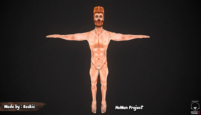 HuMan 3D Project I Animated I HandPainted I Male