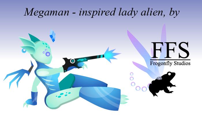 Megaman-inspired Lady Alien