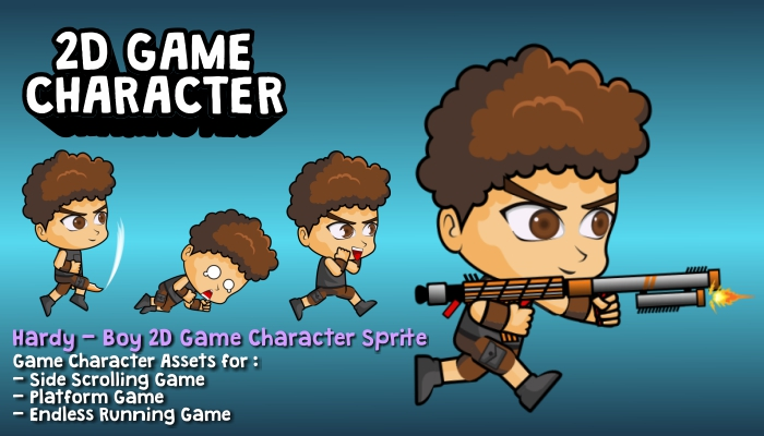 Hardy – Boy 2D Game Character Sprite