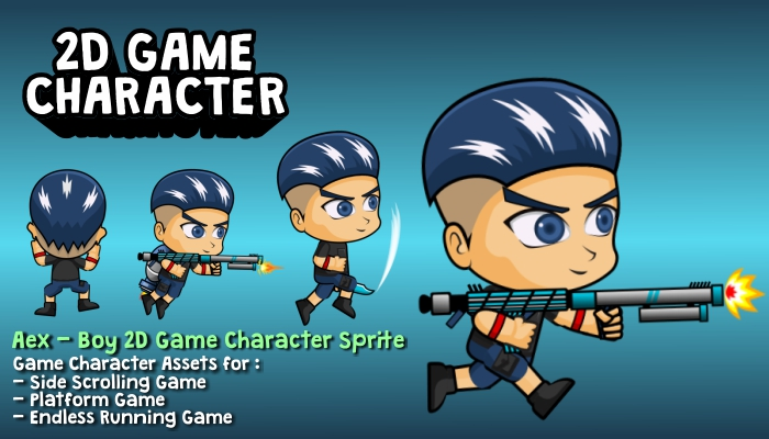 Aex – Boy 2D Game Character Sprite