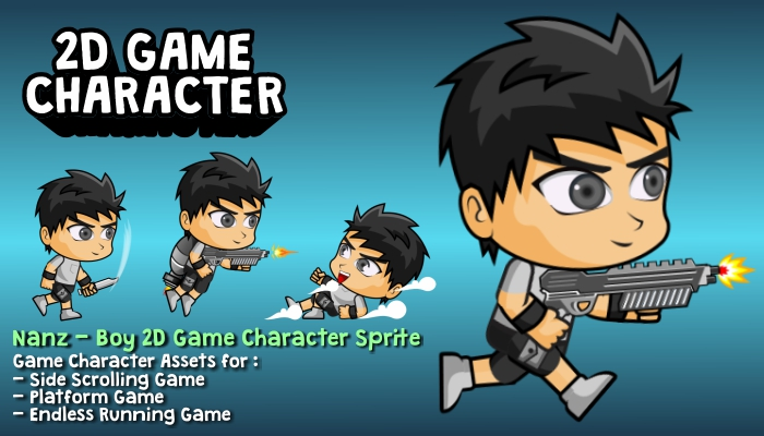 Nanz – Boy 2D Game Character Sprite