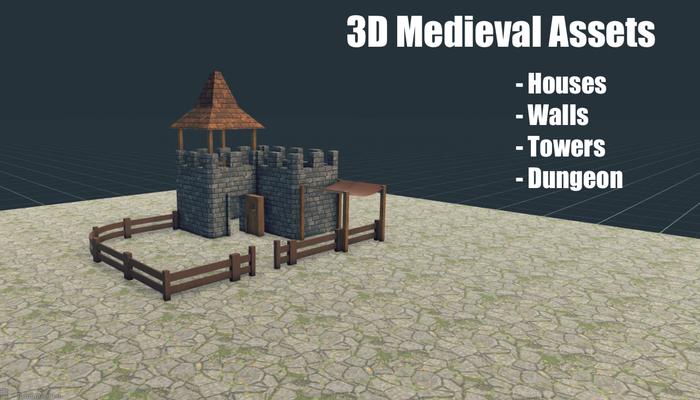 3D Medieval Town Assets