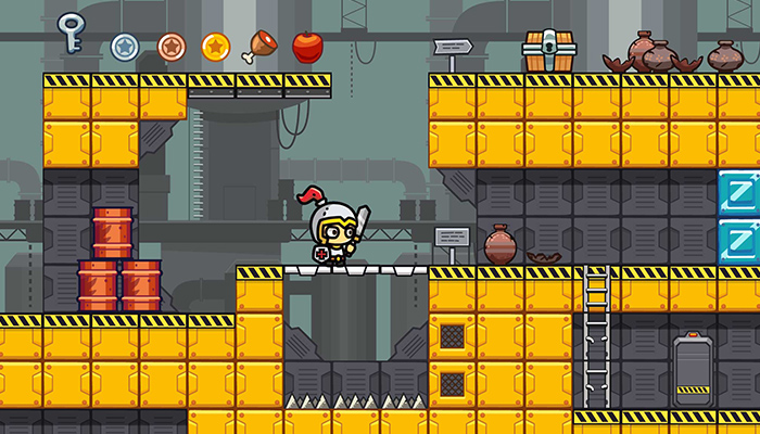 Factory Platformer Level Tileset