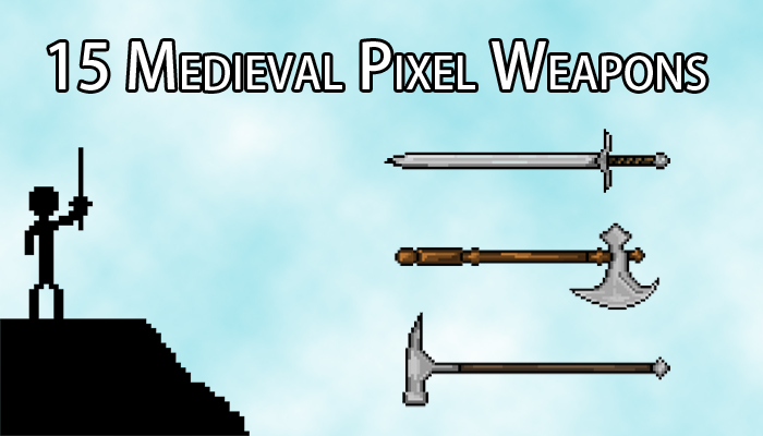 15 Medieval Pixel Weapons