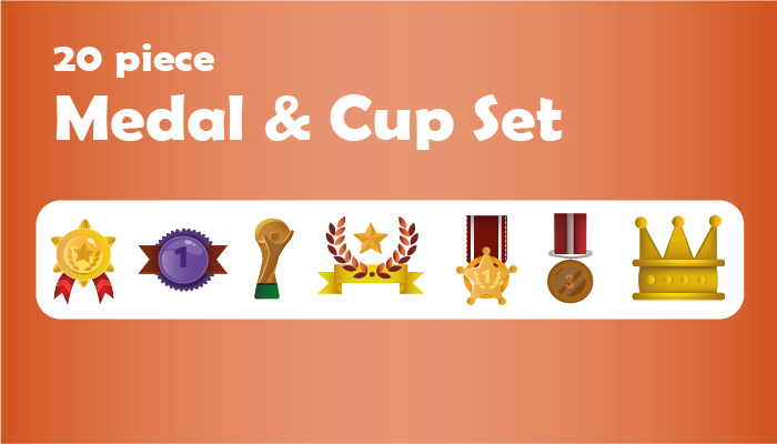 20 Piece Medal / Cup