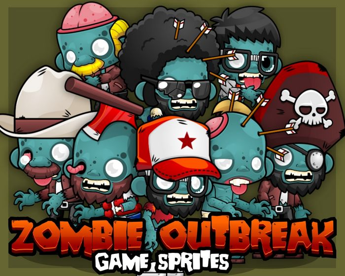 Zombie Outbreak – Game Sprites