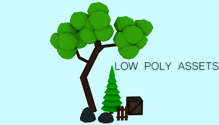 Small Low Poly Objects Assets