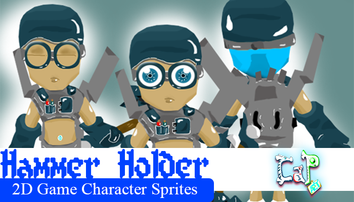 HAMMER HOLDER – 2D Character Game Sprites