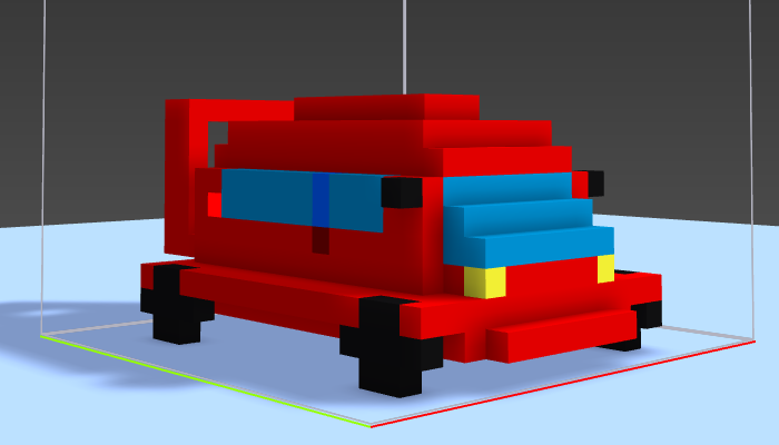 Small Voxel Race Car